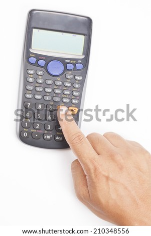 calculator isolated on white.