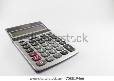 Calculator isolated on white back ground
