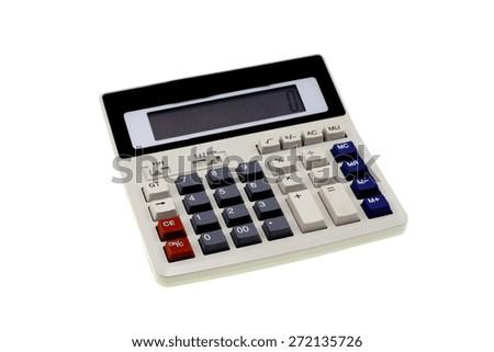 Calculator isolated on white background - stock photo