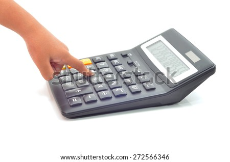 calculator isolated on white background, concept for accounting or calculation