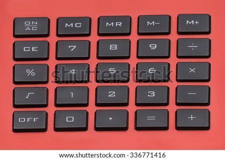 Calculator Keypad - stock photo