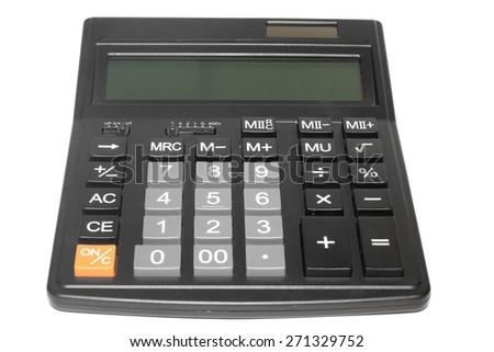 Calculator on the white background.