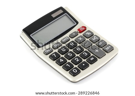 Calculator on white background - stock photo