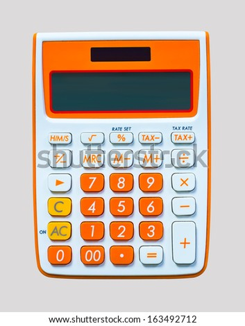 Calculator or a calculator to aid the fast and vivid colors - stock photo
