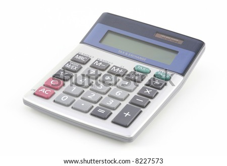 Calculator over the white background