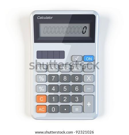 Calculator - top view - stock photo