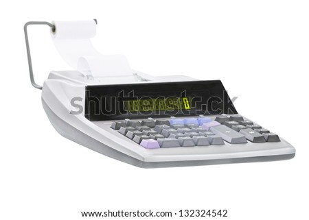 calculator under the white background - stock photo
