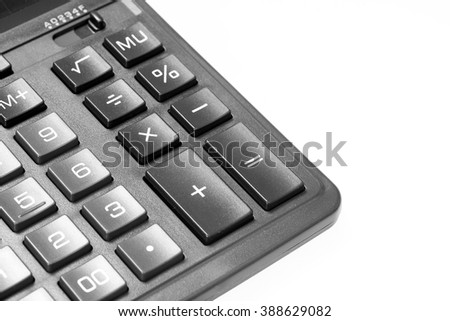 calculatorcalculator on a white background - stock photo