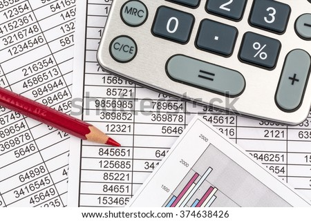calculators and statistk - stock photo