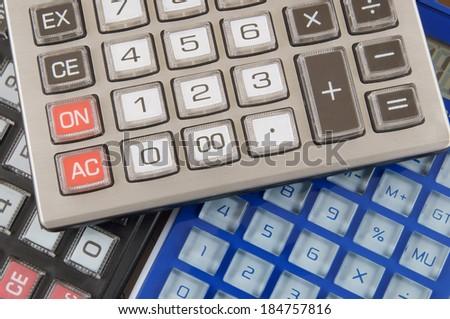 Calculators background - stock photo
