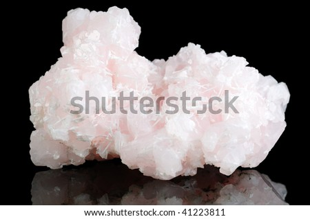 Calcyte Mineral Isolated on Black Background