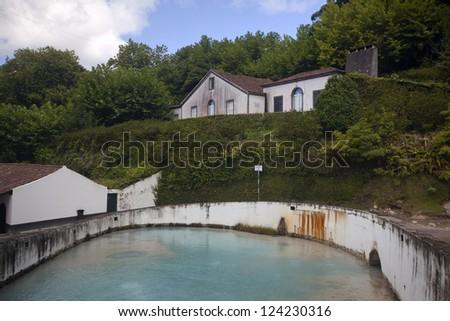 Caldeiras da Ribeira Grande, Island of Sao Miguel, Archipelago of the Azores, Portugal, Europe - stock photo