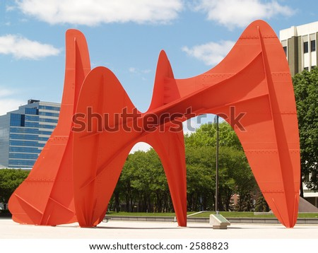Calder Sculpture - stock photo