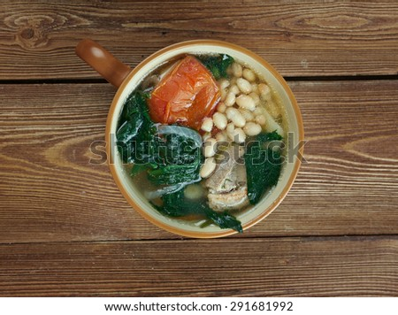 Caldo gallego -  literally Galician broth,  traditional soup dish from Galicia ,Spain