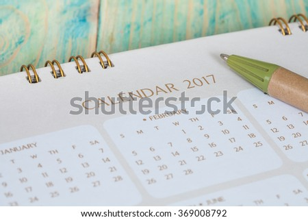 calendar 2017 - stock photo