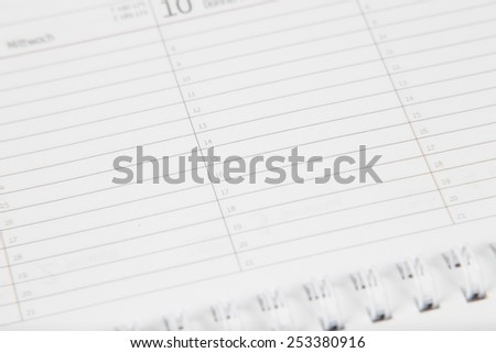 calendar background for appointments (copy space) - stock photo