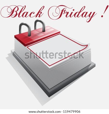 calendar Black friday on a white background - stock photo