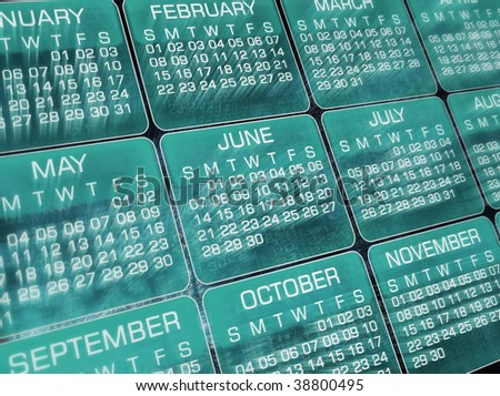 Calendar, clip-art, background - stock photo