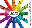 Calendar Design 2012 - stock photo