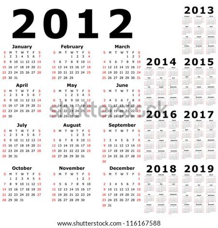 2013 year calendars