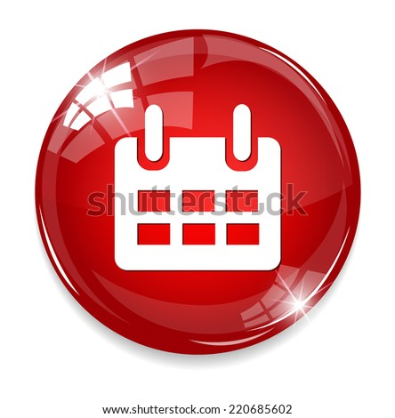 calendar icon date - stock photo