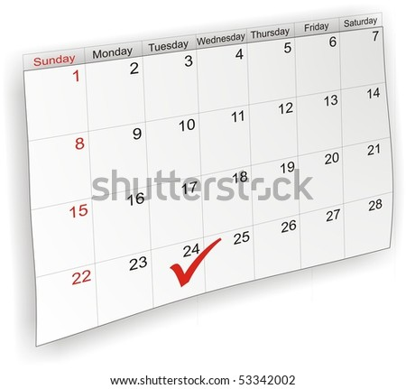 Calendar labeled - stock photo