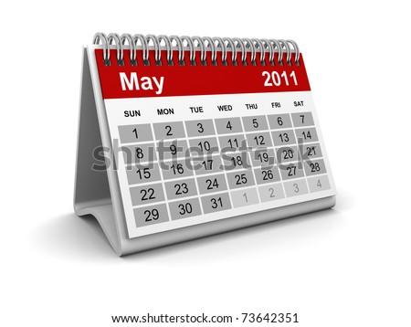Calendar 2011 - May - stock photo