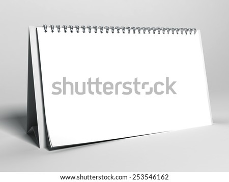 Calendar on a white background - stock photo