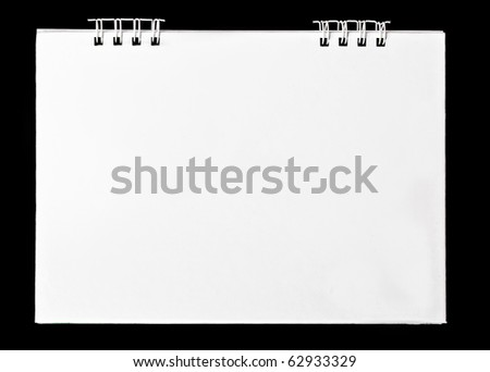 calendar on black - stock photo