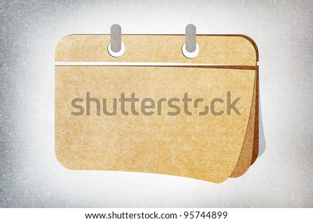Calendar  on blank Note Paper Background - stock photo