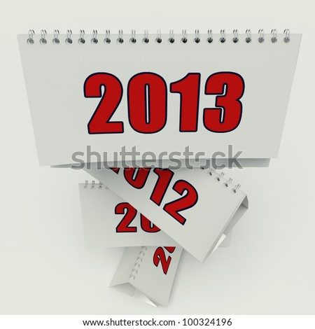calendar 2013 on the white background - stock photo