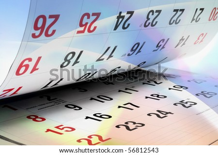 Calendar Pages on Digital Background - stock photo