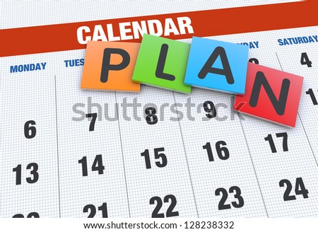 Calendar planning concept - stock photo