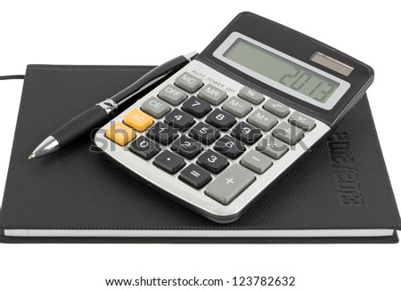 Calender for 2013 with calculating stuff - stock photo