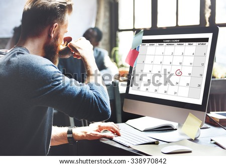 Calender Planner Organization Management Remind Concept - stock photo