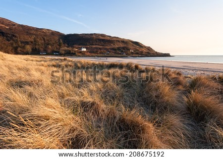 Calgary Bay beach, Isle of Mull, Scottish Inner Hebrides - stock photo