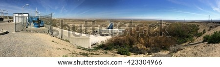 California Aqueduct Pumping Station in the Central Valley of California - stock photo