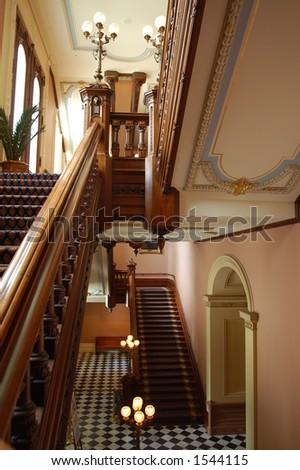 California Capitol Staircase - stock photo