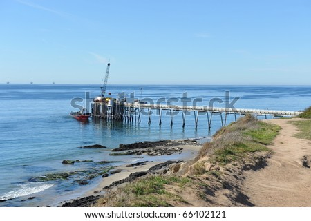 California Carpinteria Pier - stock photo