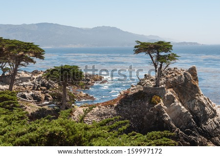 California Coast near Carmel - stock photo