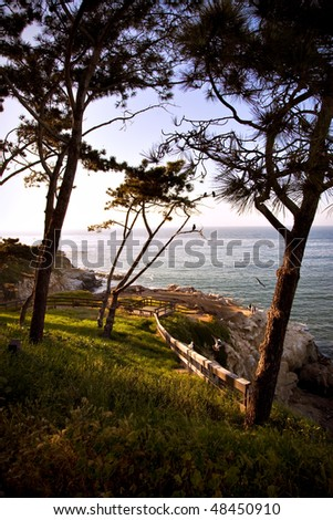 California Coastline at La Jolla - stock photo