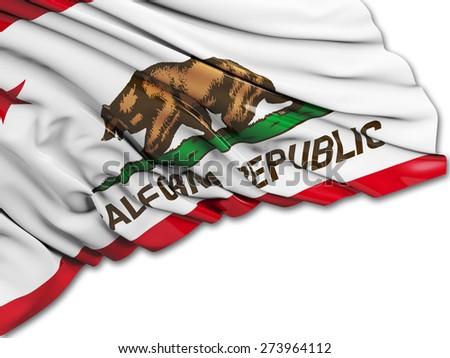California Flag with white - stock photo