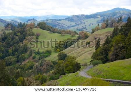 California hillsides in spring - stock photo