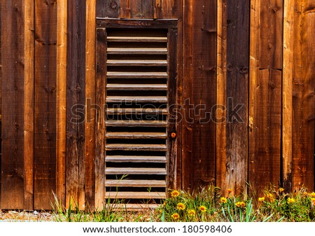 California old far west wooden textures in USA - stock photo