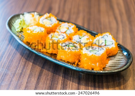 California roll maki - japanese food - stock photo