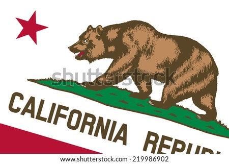 California State Flag. Close up. - stock photo