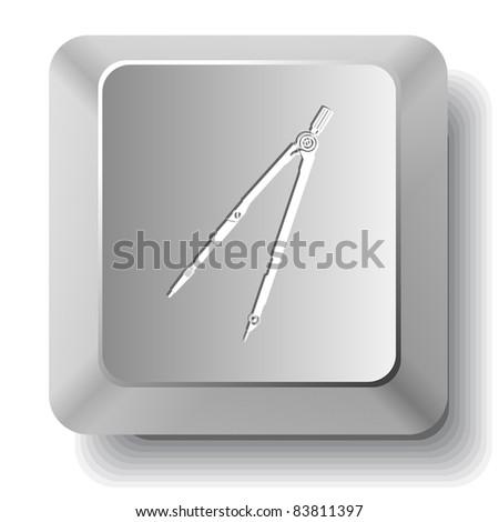 Caliper. Computer key. Raster illustration. - stock photo