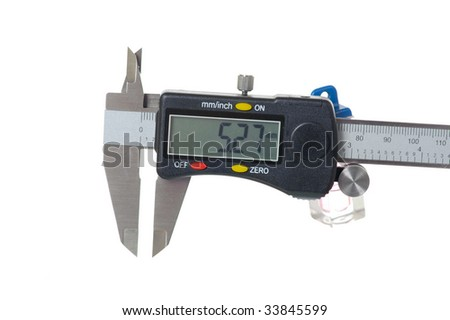caliper isolated on the white background - stock photo