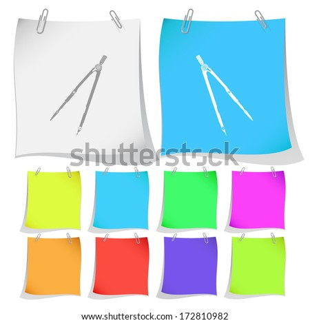 Caliper. Raster note papers. Vector version is in portfolio. - stock photo