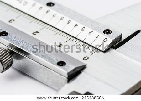 Caliper, scale of measurement - stock photo